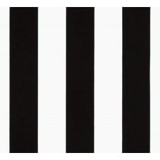 Striped Black and White Indoor Outdoor Fabric