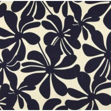 A Jumbo Petals in Navy Blue & Cream Outdoor Fabric