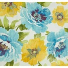 REMNANT - Beautiful Garden Muree Blues Outdoor Fabric