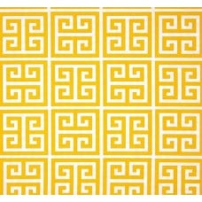 Citrus Geometric Towers Outdoor Fabric