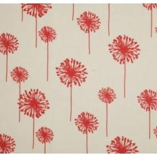 Dandelion in White & Coral Home Decor Cotton Fabric