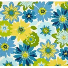 Floral Orlato Outdoor Fabric in Caribbean