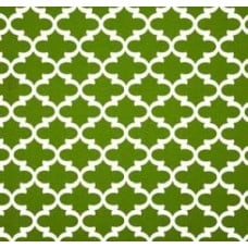 Fulton in White and Green Outdoor Fabric