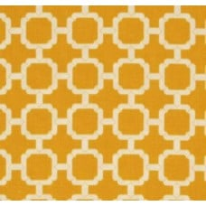 Geometric in Banana Yellow Outdoor Fabric