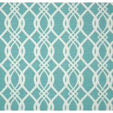 Hedda Lattice Design Outdoor Fabric in Bermuda