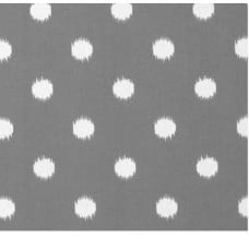 Ikat Dots in Grey Outdoor Fabric