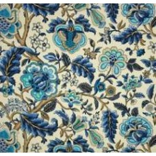 Imperial Dress in Azure Outdoor Fabric by Waverly