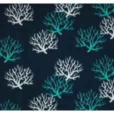 Isadella Coral in Blues Outdoor Fabric