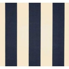Navy & Ivory Stripes Outdoor Fabric
