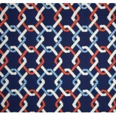 Out to Sea Sailor Outdoor Fabric in Light Blue and Navy