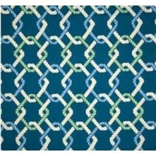 Out to Sea Sailor Outdoor Fabric in Ocean