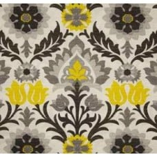 Santa Maria Flowers in the Desert Licorice Outdoor Fabric by Waverly