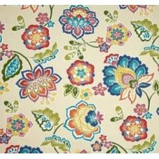 Solarium Outdoor Polyester Fabric in Floral Opal
