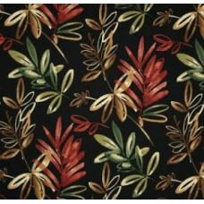 Solarium Outdoor Polyester Fabric in Midnight Leaf