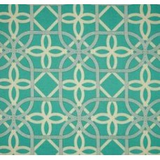 Solarium Outdoor Polyester Fabric in Teal