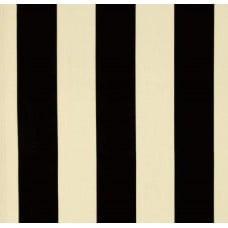 Stripe Black & Ivory Outdoor Fabric