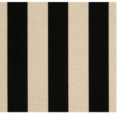 Striped Black & Beige Outdoor Fabric