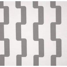 Striped Zig Zag Outdoor Polyester Fabric in Grey and White