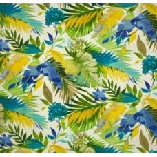 Toma Floral in Blues Outdoor Fabric