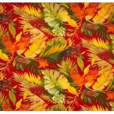 Toma Floral in Red Outdoor Fabric