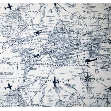 Air Traffic Premier in Navy Home Decor Cotton Fabric