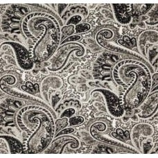 A Paisley Dream in Black Home Decor Fabric