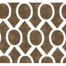 Circle Sydney Weave in Chocolate Cotton Home Decor Cotton Fabric