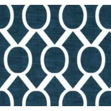 Circle Sydney Weave in Navy Home Decor Cotton Fabric