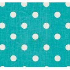 Girly Blue Polka Dot Home Decor Cotton Fabric