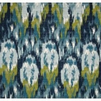 Ikat Crazed Blue Frost Home Decor Cotton Fabric