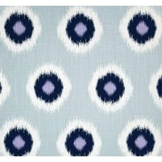 Jumbo Ikat in Domino Blue Home Decor Cotton Fabric