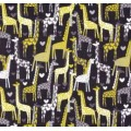 Love Giraffes in Grey Cotton Fabric by Michael Miller