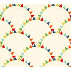Miniature Bunting Flags Cotton Fabric by Michael Miller