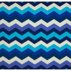 Panama Waves Chevron in Blue Outdoor Fabric