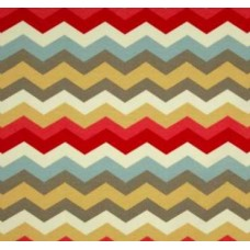 Panama Waves Chevron in Earth Outdoor Fabric