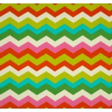 Panama Waves Chevron in Mimosa Outdoor Fabric