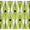 Peacock Feathers Home Decor Cotton Fabric in Green