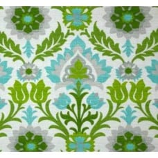 Santa Maria Flowers in The Desert Green Outdoor Fabric by Waverly