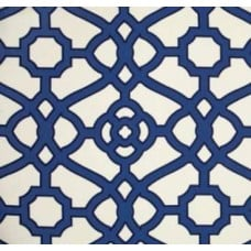 Sea Glass Lattice Navy Outdoor Fabric