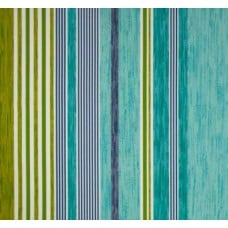 Sea Glass Stripe in Blue Hues Outdoor Fabric