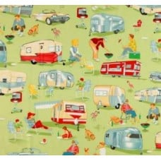 Travel Camping and Caravan Cotton Fabric by Michael Miller