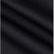 Dyed Solid Black Cotton Duck Home Decor Fabric