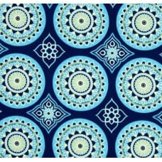 Sundial Navy Indoor Outdoor Fabric