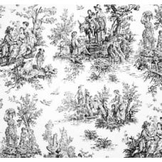 Toile Fabric Colonial Black Jamietown Home Decor Fabric