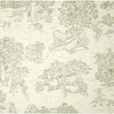 Toile Fabric Jamietown Sage & Natural Home Decor Fabric