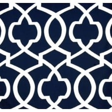 Tomorrow's Gate In Navy and White Home Decor Cotton Fabric